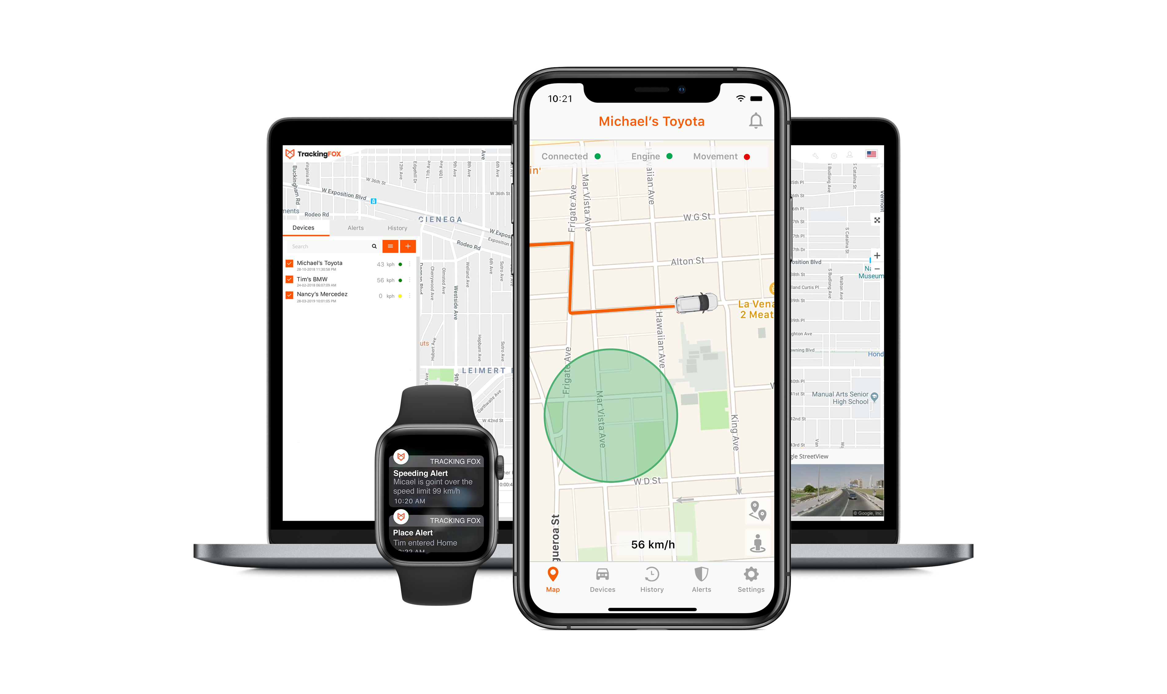Vehicle tracker system for your car. Try now! | TrackingFox